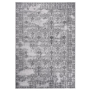 """GAD DAISY Collection Garden Chic Classic/Transional L.Gray/D.Gray Rug - 2'2"""" X 3'"""