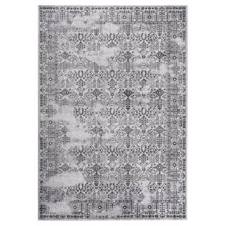 """GAD DAISY Collection Garden Chic Classic/Transional L.Gray/D.Gray Rug - 7'10"""" X 10'2"""""""