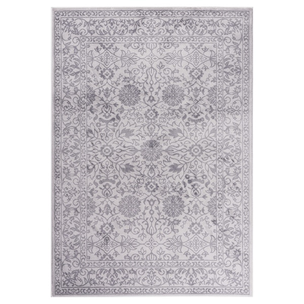 "GAD MARIGOLD Collection Tabriz Chic Classic/Transional Gray Area Rug - 7'10"" X 10'2"""