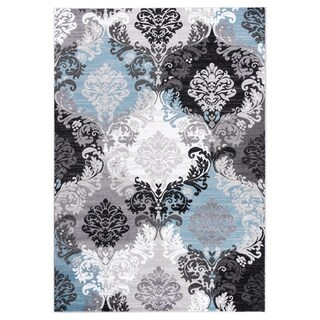 """GAD DAISY  Collection Ikat Beautiful Transional Multi Color Area Rug - 5'3"""" X 7'6"""""""