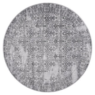 GAD DAISY Collection Garden Chic Classic/Transional L.Gray/D.Gray Rug - 7'R
