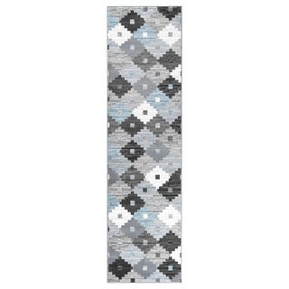 """GAD PRIMROSE Collection Quilt Beautiful Transional Quilt Gray Area Rug - 2'2"""" X 7'10"""""""