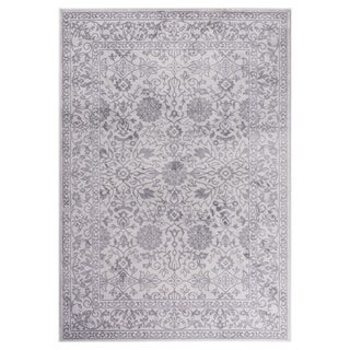 "GAD MARIGOLD Collection Tabriz Chic Classic/Transional Gray Area Rug - 5'3"" X 7'6"""