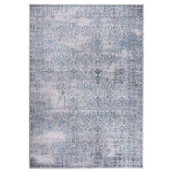 "GAD DAISY Collection Garden Stylish Classic/Transional L.Gray/Blue Rug - 2'2"" X 3'"