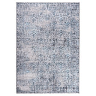 "GAD DAISY Collection Garden Stylish Classic/Transional L.Gray/Blue Rug - 7'10"" X 10'2"""