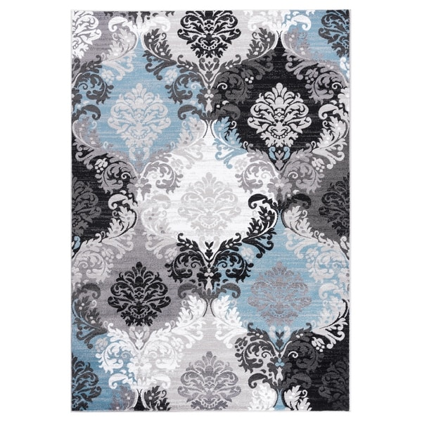 """GAD DAISY Collection Ikat Beautiful Transional Multi Color Area Rug - 7'10"""" X 10'2"""""""