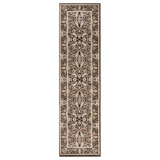 "GAD MARIGOLD Collection Kerman Beautiful Classic/Transional Brown Rug - 2'2"" X 7'10"""