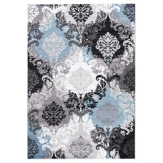 """GAD DAISY  Collection Ikat Beautiful Transional Multi Color Area Rug - 2'2"""" X 3'"""