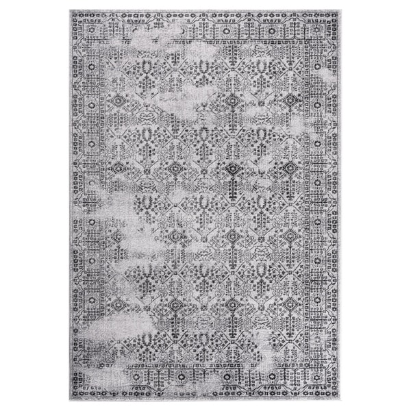 """GAD DAISY Collection Garden Chic Classic/Transional L.Gray/D.Gray Rug - 5'3"""" X 7'6"""""""