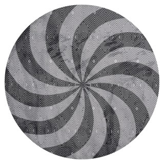 GAD PRIMROSE Collection Mesmerize Beautiful Transional Gray Area Rug - 7'R