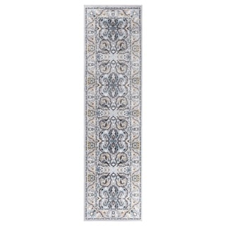 "GAD MARIGOLD Collection Kerman Beautiful Classic/Transional Gray Rug - 2'2"" X 7'10"""