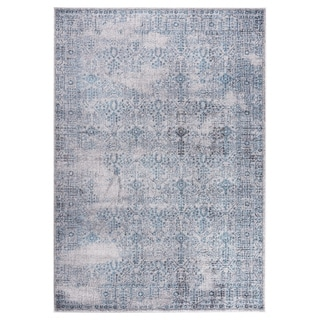 "GAD DAISY Collection Garden Stylish Classic/Transional L.Gray/Blue Rug - 5'3"" X 7'6"""