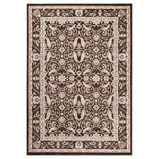 "GAD MARIGOLD Collection Kerman Beautiful Classic/Transional Brown Rug - 5'3"" X 7'6"""