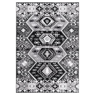 "GAD MARIGOLD Collection Peace Stylish Southwestern Classic Gray Rug - 7'10"" X 10'2"""