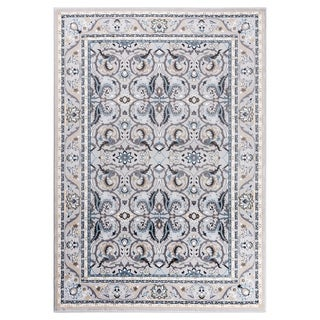 "GAD MARIGOLD Collection Kerman Beautiful Classic/Transional Gray Rug - 7'10"" X 10'2"""