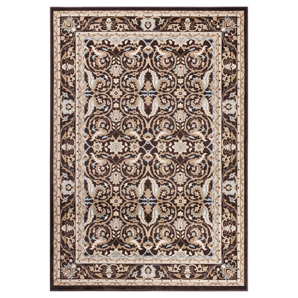 "GAD MARIGOLD Collection Kerman Beautiful Classic/Transional Brown Rug - 2'2"" X 3'"