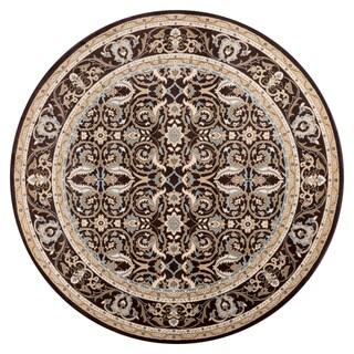 GAD MARIGOLD Collection Kerman Beautiful Classic/Transional Brown Rug - 7'R