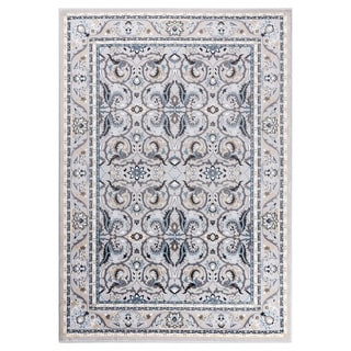 "GAD MARIGOLD Collection Kerman Beautiful Classic/Transional Gray Rug - 2'2"" X 3'"
