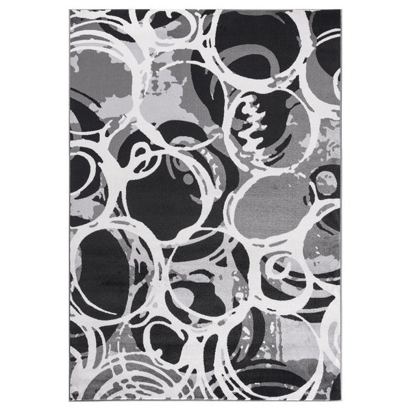 """GAD PRIMROSE Collection Motion Beautiful Transional Gray Area Rug - 2'2"""" X 3'"""