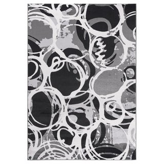 """GAD PRIMROSE Collection Motion Beautiful Transional Gray Area Rug - 5'3"""" X 7'6"""""""