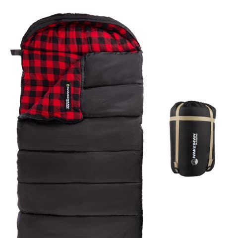 Wakeman Outdoors 32F-rated Envelope-style XL Sleeping Bag