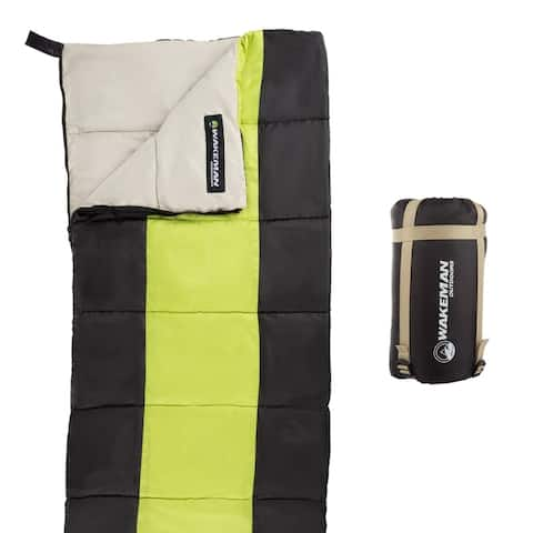 Wakeman Outdoors Kids' Lightweight Compression Strap Sleeping Bag with Carrying Bag