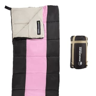 Wakeman Outdoors Kids Lightweight Compression Strap Sleeping Bag With Carrying Bag