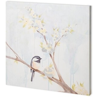 Mercana 'Spring Chickadees II' Made to Order Canvas Art