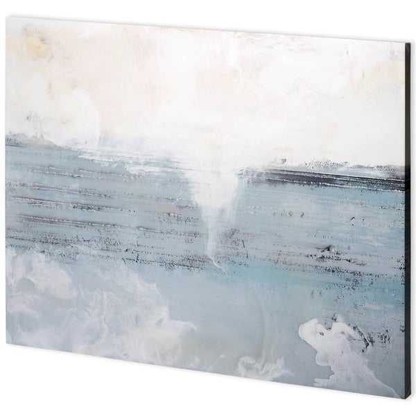 Mercana 'Pale Blue II' Handmade Canvas Art