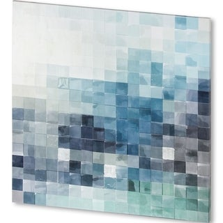 Mercana 44-inch Square Gridded Watercolor Landscape Made-to-order Canvas Art Print
