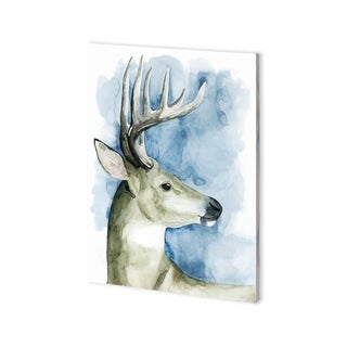 Mercana 'Wandering Stag II' Made to Order Canvas Art