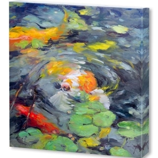 Mercana Golden Koi(41 X 41) Made to Order Canvas Art
