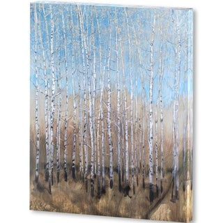 Mercana Dusty Blue Birches I (44 X 56) Made to Order Canvas Art