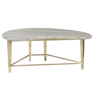 Kidney Shaped Marble Top Cocktail Table