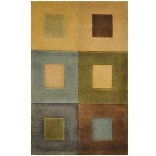Handmade One-of-a-Kind Tibetan Wool Rug (India) - 1'8 x 2'7