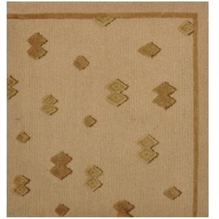 Handmade One-of-a-Kind Tibetan Wool Rug (India) - 2' x 2'