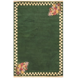 Link to Handmade One-of-a-Kind Tibetan Wool Rug (India) - 5' x 8' Similar Items in Transitional Rugs