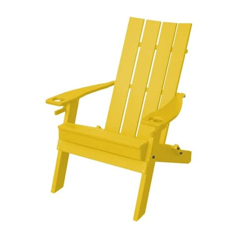 Adirondack Chair in Hampton Style - 2 Cup Holders - Recycled Plastic