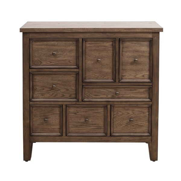 Eclectic Apothecary Style 8 Drawer Hall Chest