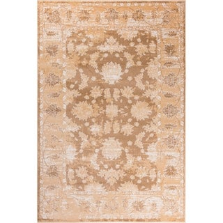 GAD Magnolia Beige Transitional Design Area Rug with Stylish  Look. - 7'R
