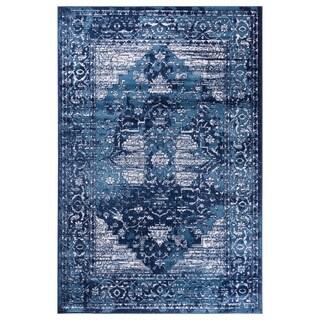 GAD Blossom Blue Transitional/Modern Area Rug - 7'10 x 10'2