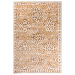 GAD Aztec Beige Transitional Design Rug with Modern Stylish Look - 7'10 x 10'2