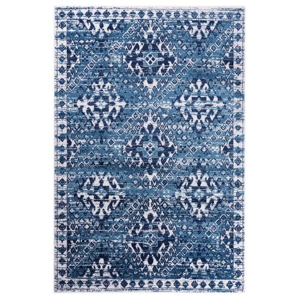 GAD Aztec Blue Transitional Design Modern Look Rug - 7'10 x 10'2