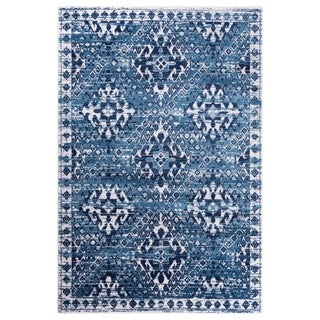 GAD Aztec Blue Transitional Design Rug with Modern Stylish Look. - 7'R