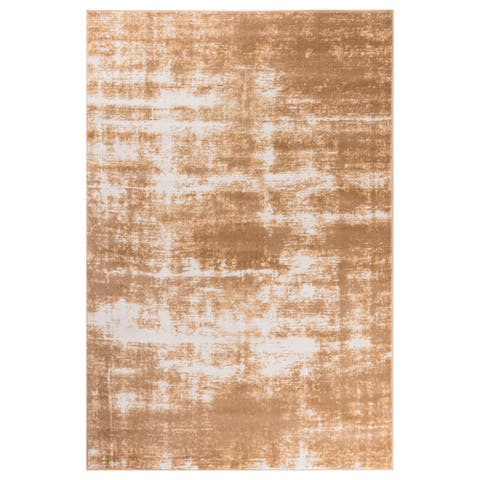 GAD Marble Beige Transitional Design Area Rugwith Modern Stylish Look. - 7'R
