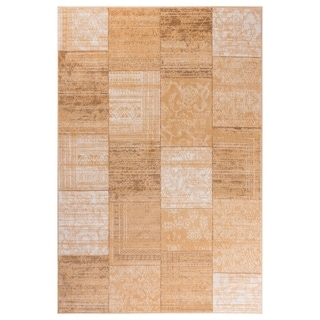"GAD Patchwork  Beige Transitional Design Rug with Modern Stylish Look. - 2'2"" X 3'"