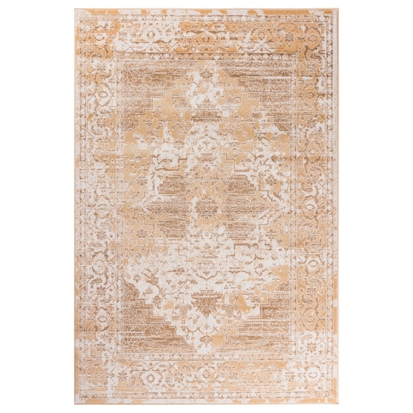 "GAD Blossom Beige Transitional Design Rug with Modern Stylish Look - 2'2"" X 7'10"""