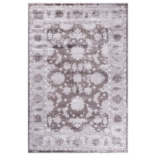 GAD Magnolia Gray Transitional Design Area Rug with Stylish  Look. - 7'R