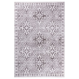 """GAD Aztec Gray Transitional Design Rug with Modern Stylish Look. - 2'2"""" X 7'10"""""""