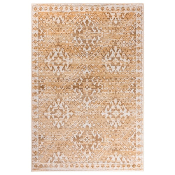 "GAD Aztec Beige Transitional Design Rug with Modern Stylish Look. - 5'3"" X 7'6"""